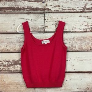 St. John Collection tank pink Pullover Sweater